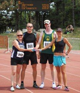 mixed relays masters athletics