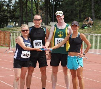 mixed relays masters athletics