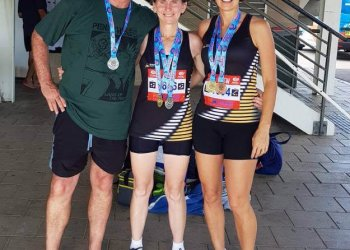 Medals for masters athletes at NSW Masters Champs