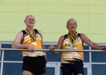 Masters athletes 40 year friendly rivalry