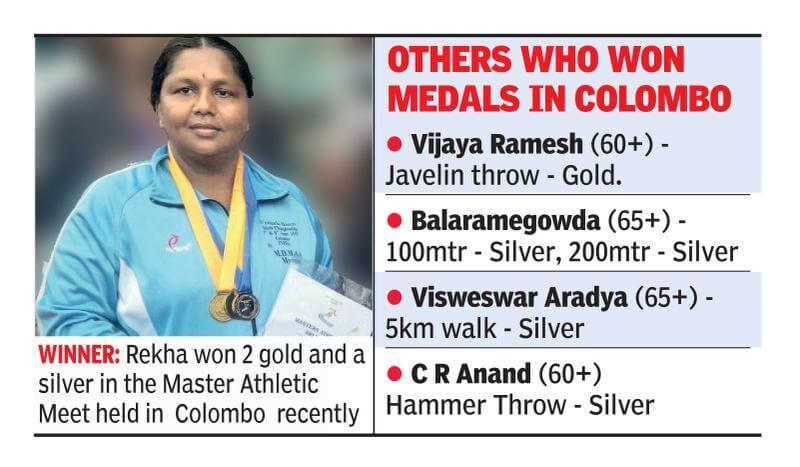 Lack of professional training did not stop this 39-year-old mother athlete from winning medals