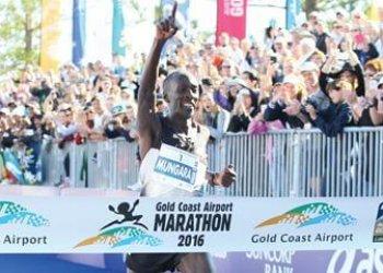 44 Year Old Master Athlete Mungara takes third Gold Coast Marathon victory